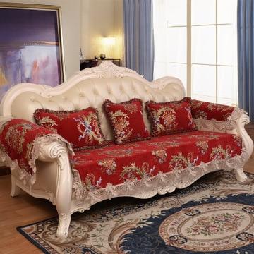 High quality European Style Universal Sofa Cover Chenille non slip fabric sofa cushion Living Room Sectional