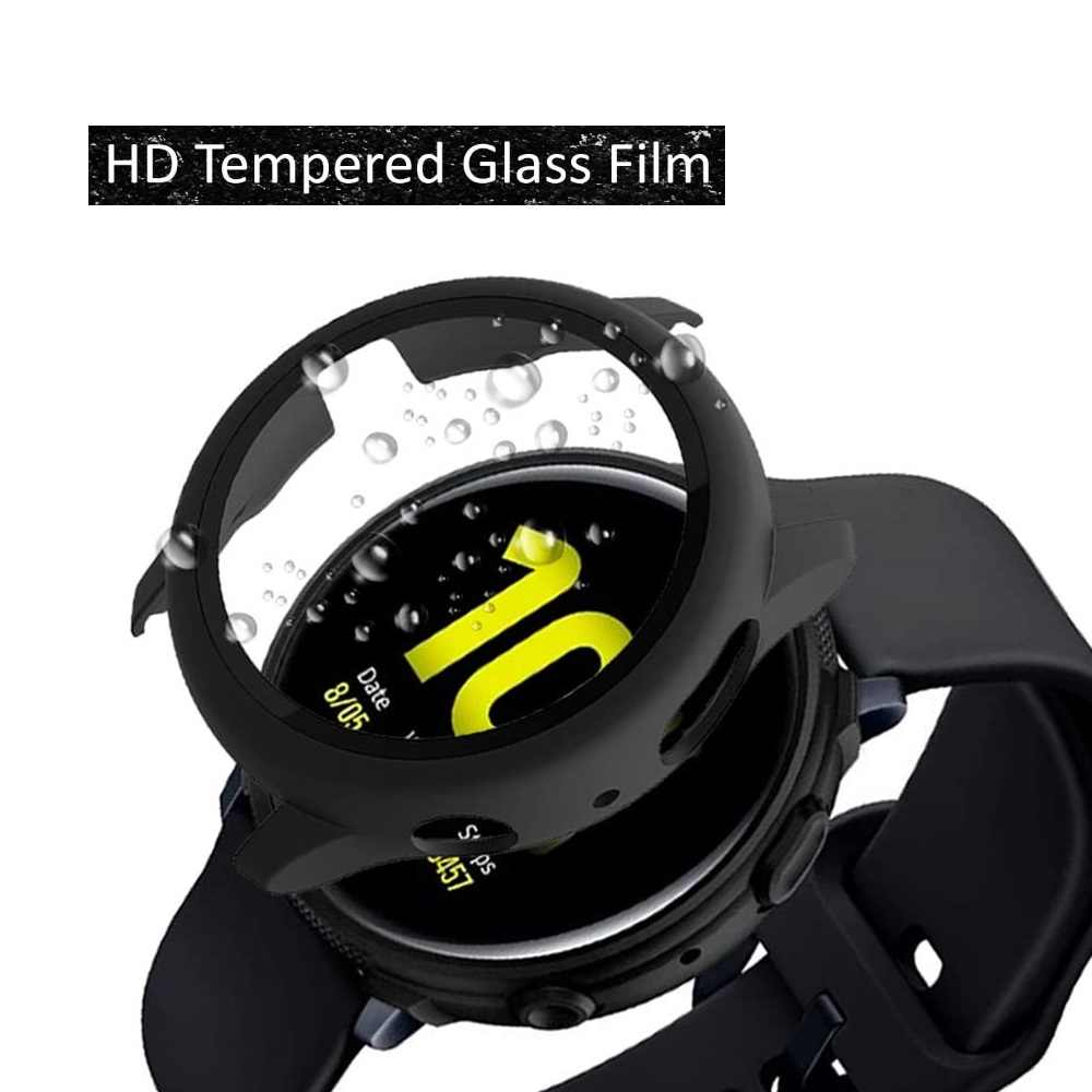 لسامسونج غالاكسي النشطة 2 40 مللي متر 44 مللي متر الحال مع حامي الشاشة رقيقة جدا HD الزجاج المقسى غطاء active2 الوفير التغطية الكاملة
