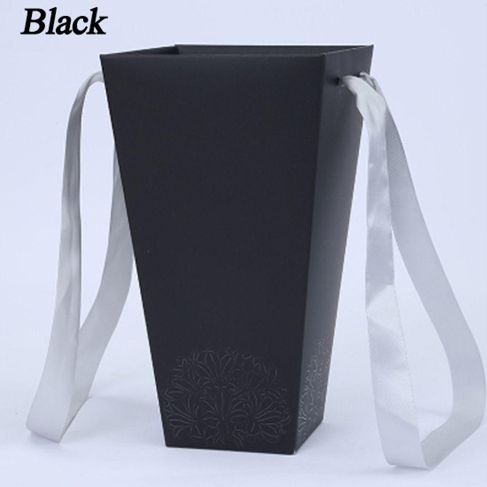165*120 мм новые круглые бумажные коробки для цветов с крышкой, ведерко для цветов, подарочная упаковочная коробка, подарочные коробки для конфет, вечерние, Свадебные Поставки - Цвет: B(black)