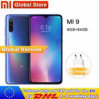 "Global Version Xiaomi Mi 9 Mi9 64GB ROM 6GB Telephone Snapdragon 855 Octa Core 6.39"" 48MP Triple Camera In Display Fingerprint"