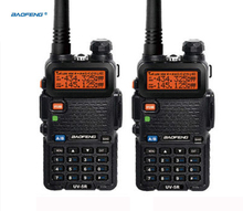 Talkie walkie 2 pièces jambon Radio Hf émetteur récepteur Uv 5r Baofeng Uv 5r pour 136 174mhz et 400 520mhz deux voies Radio double bande Uhf Vhf