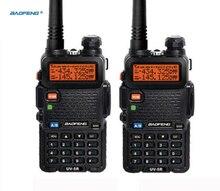 Walkie talkie 2 adet amatör radyo Hf alıcı verici Uv 5r Baofeng Uv 5r için 136 174mhz & 400 520mhz iki 2 yönlü radyo çift bant Uhf Vhf