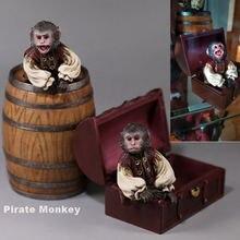 В наличии 1/6 масштаб аксессуар пирата обезьяны бочка вина коробка