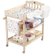Маленький столик для детских подгузников Muren из твердой древесины, Европейский безболезненный сосновый экологический сенсорный массажный стол для кормления, стол для ванной, стол для приема