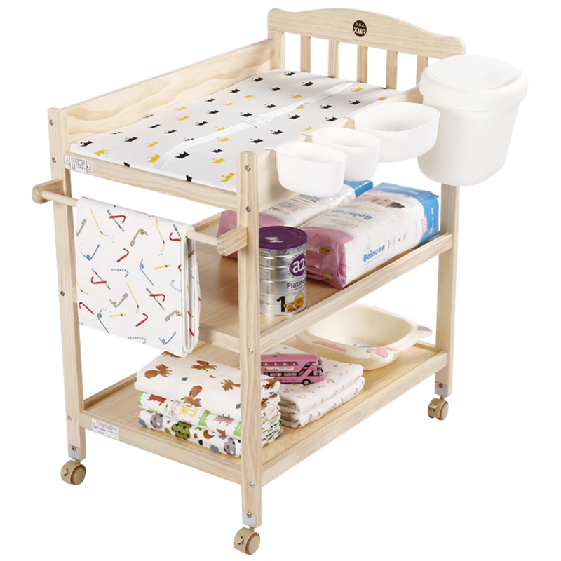 Small Muren Baby Diaper Table Solid Wood European Painless Pine Environmental Touch Nursing Massage Table Bath Reception Table