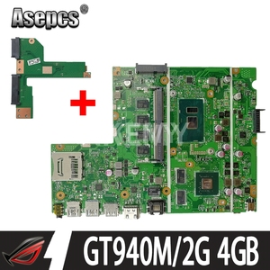 Новая Бесплатная плата HDD для Asus X541UVK X541UV X541UJ F541U R541U материнская плата для ноутбука Mianboard i5-6200U/ i5-6198DU GT940M/2G 4 Гб RAM