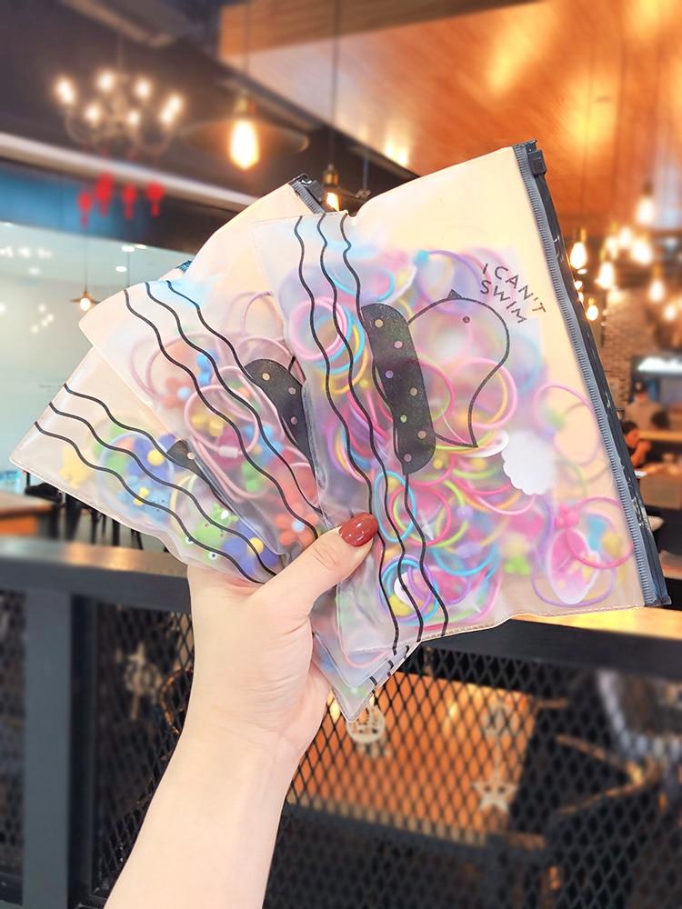 1 Bag New Girls Baby Cute Candy Soft Fruit Flower Cartoon Elastic Hair Bands Children Sweet Rubber Bands Kids Hair Accessories