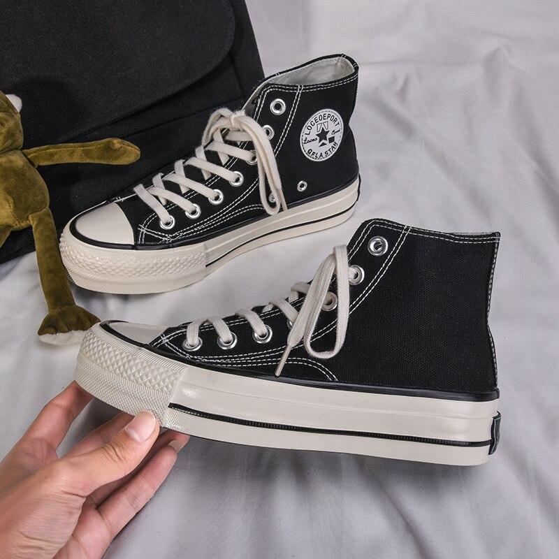 Парусиновая женская обувь на высокой платформе 4 см; Повседневные женские кроссовки на шнуровке в стиле ретро; Дышащая Уличная обувь для отдыха; Реальные фотографии Кроссовки и кеды      АлиЭкспресс