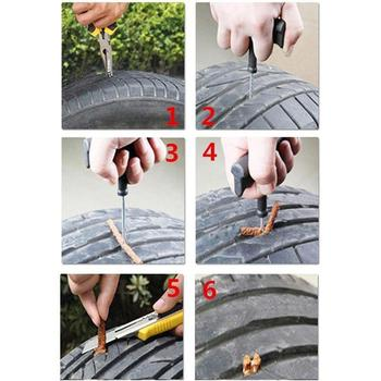 5Pcs Car Tire Repair Strip Auto Motorcycle Tubeless Tire Tyre Wheels Puncture Plug Seal Tape Repair Tendon Rubber Strip image