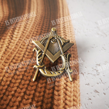 Masonic Lapel Pins Badge Mason Freedom  Antique Style Zinc alloy material  exquisite souvenirs  gifts