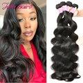 Бразильские волнистые волосы в пучках 8-30 дюймов, 100% человеческие волосы, 1/3/4 пряди Ков, сделан, натуральный цвет, Remy, человеческие волосы для ...