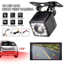 12 Lights Plug-In Square Reversing Camera Car Hd Night Vision Waterproof Image Rear View Wide-Angle