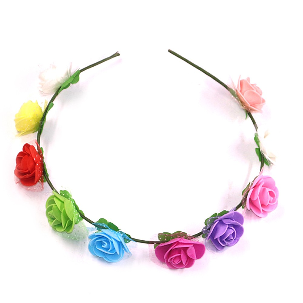 Wreath Headwear Tourist Attraction Hair Ornament Hairband For Children Kids Women Wedding Party Christmas