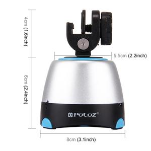 Image 4 - PULUZ 360 ° Rotating Electronic Panoramic Head With Remote Control For Smartphones & GoPro& DSLR Tripod Head Stativkopf Pan Tilt