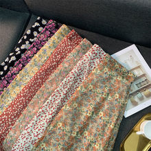 Empire Skirts Women Retro Chic Fashion Soft Chiffon Summer Vacation Ladies Clothing Hot Sale Popular Floral Korean Femme Skirt