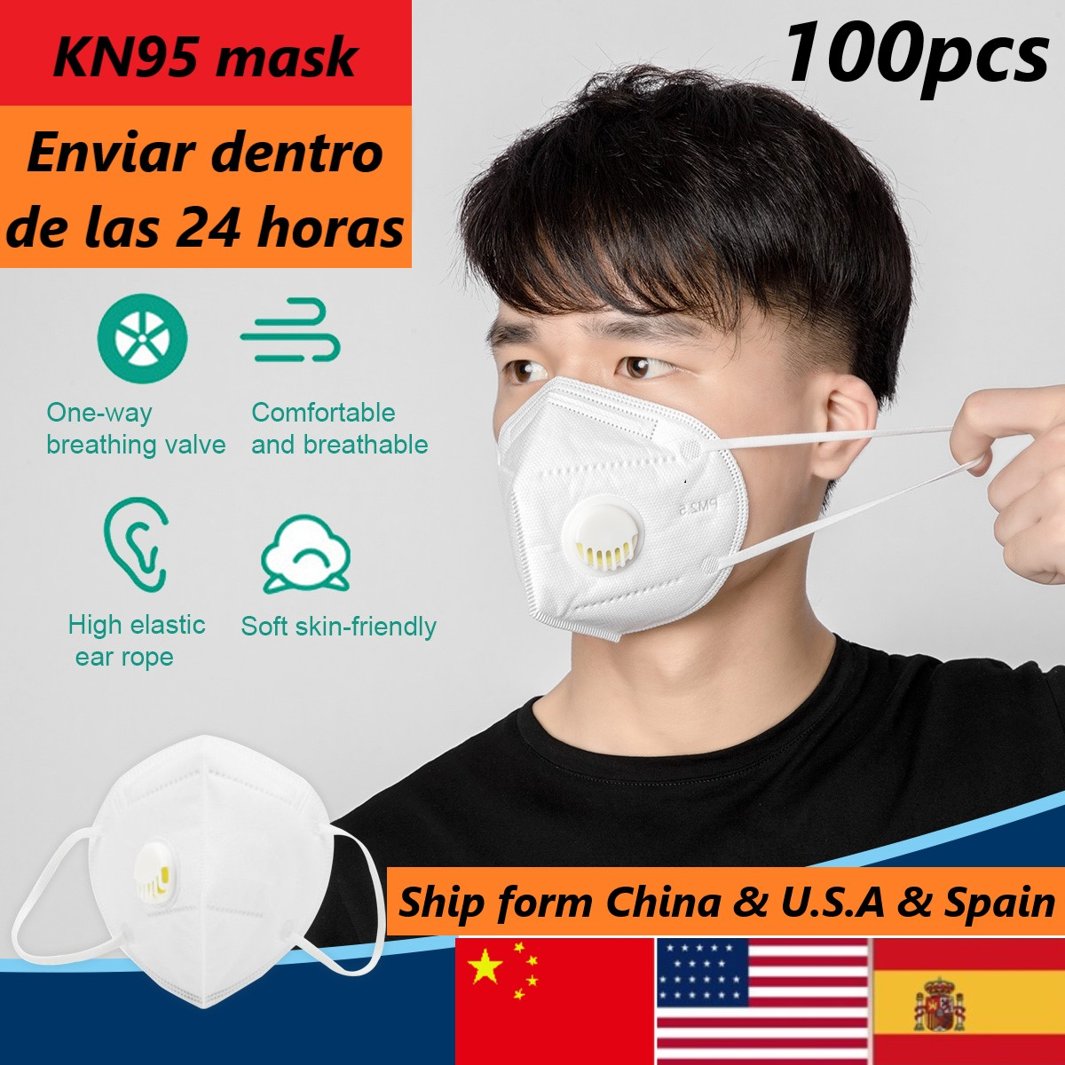 Dustproof Respirator Valve PM 2.5 Mask KN95 Mask 95% Filtration Cotton Mouth Masks And Disposable Mask Windproof