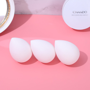 White Water Droplet Oblique Gourd Cosmetic Egg Wet And Dry Dual Purpose Makeup Tool Sponge Puff Makeup Egg 2