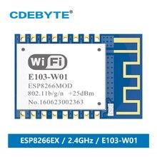 CDEBYTE E103-W01 2.4GHz Wireless Wifi Transmitter rf Module UART ESP8266EX 2.4G Data Transmission PCB Wifi Antenna ESP8266 tenying s1 1mw wire antenna zigbee data transmission module for arduino deep blue