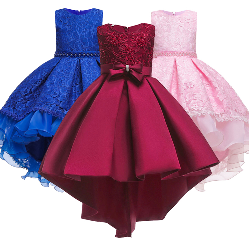 Girls Pageant First Communion Dresses Wedding Party Dress Girls Pageant Tailed Dress Kids Evening A Banquet Dress Vestidos