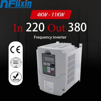 boost frequency converter Single-phase 220V to Three-phase 380V variable frequency inverter 4KW/5.5KW for motor image