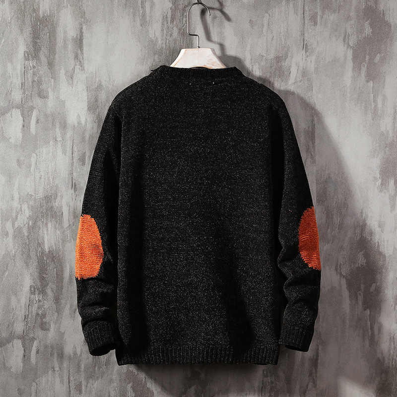 2019 nowy sweter męski z długim rękawem jesienny sweter zimowy z dzianiny O-Neck Plus rozmiar azjatycki 5XL