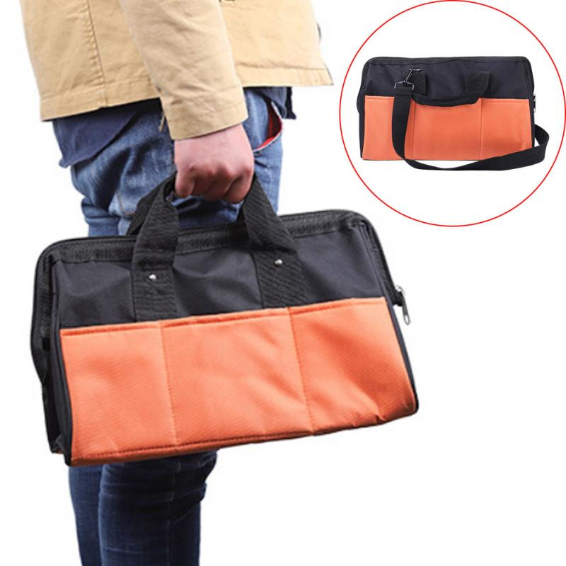 Wear Resistant Electrician Case Oxford Cloth Handheld Double Layer PVC Coated Strong Bearing Storage Tool Bag Zipper Waterproof