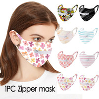 Zipper Face Mask Scarf Mascarar Face Mask Activated Carbon Mask Washable And Reusable Lot Mask Easy to Drink Mascarillas