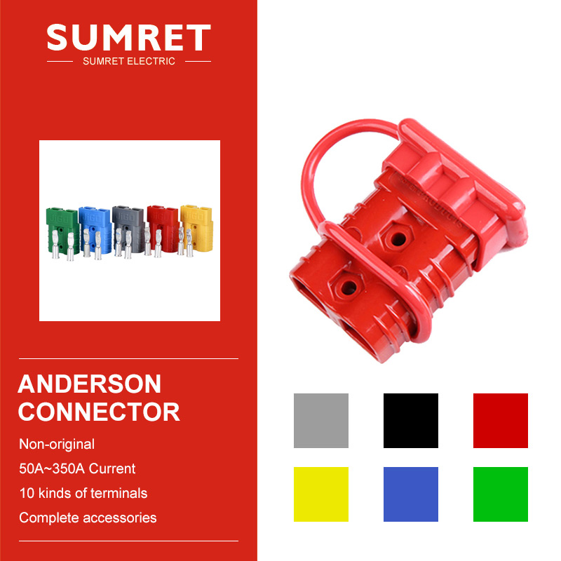 Anderson Power Connector Sb50 Plug Bipolar 50A 120A 175A 350A 600V Electric Car Battery Terminal Accessories Attachment Part