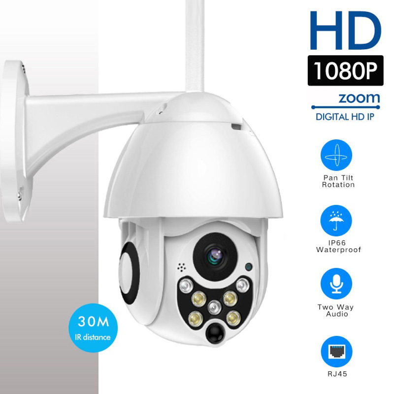 1080P 7LED PTZ Mini WIFI Outdoor Dome Home Security IP Kamera Wireless HD 2MP CCTV Onvif Wasserdichte Nachtsicht mit TF Karte