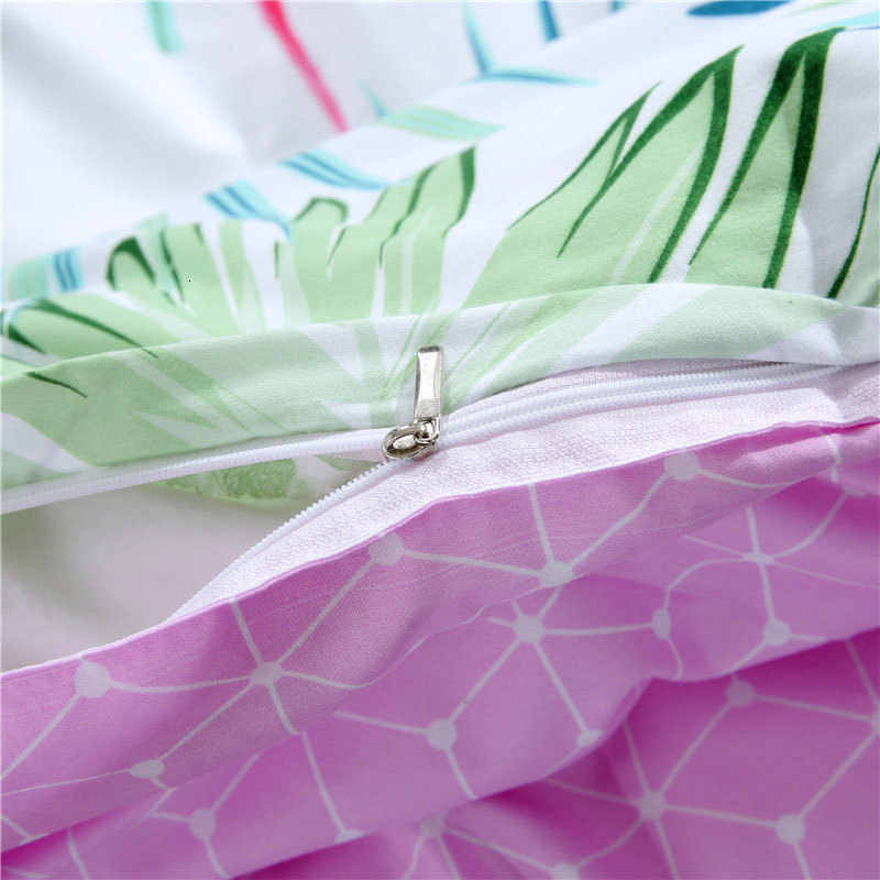 Estampado geométrico 4 Uds niña niño chico cama cubierta de funda nórdica para cama de niño sábanas fundas de edredón de cama 61036