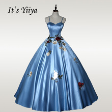 It's YiiYa Wedding Dresses Elegant Strapless Embroidery Wedding Dress Plus Size Sling Floor Length Robe De Mariee 2020 CH159