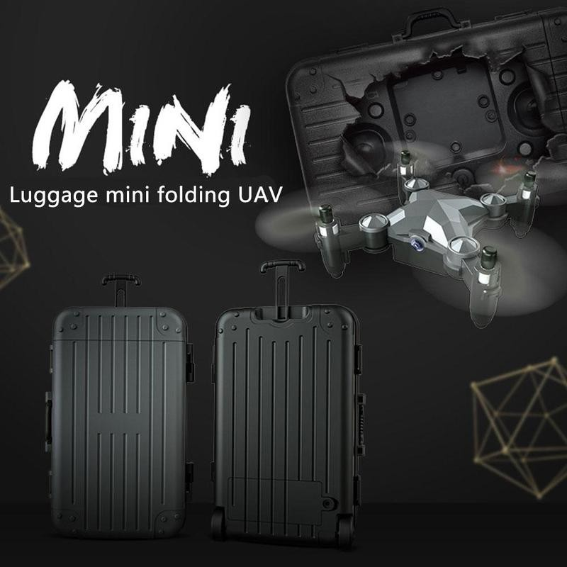 Mini Drone Luggage Folding Aerial Photography Remote Control Aircraft Four-axis Quadcopter Teaching Aids Children Toy Best Gift