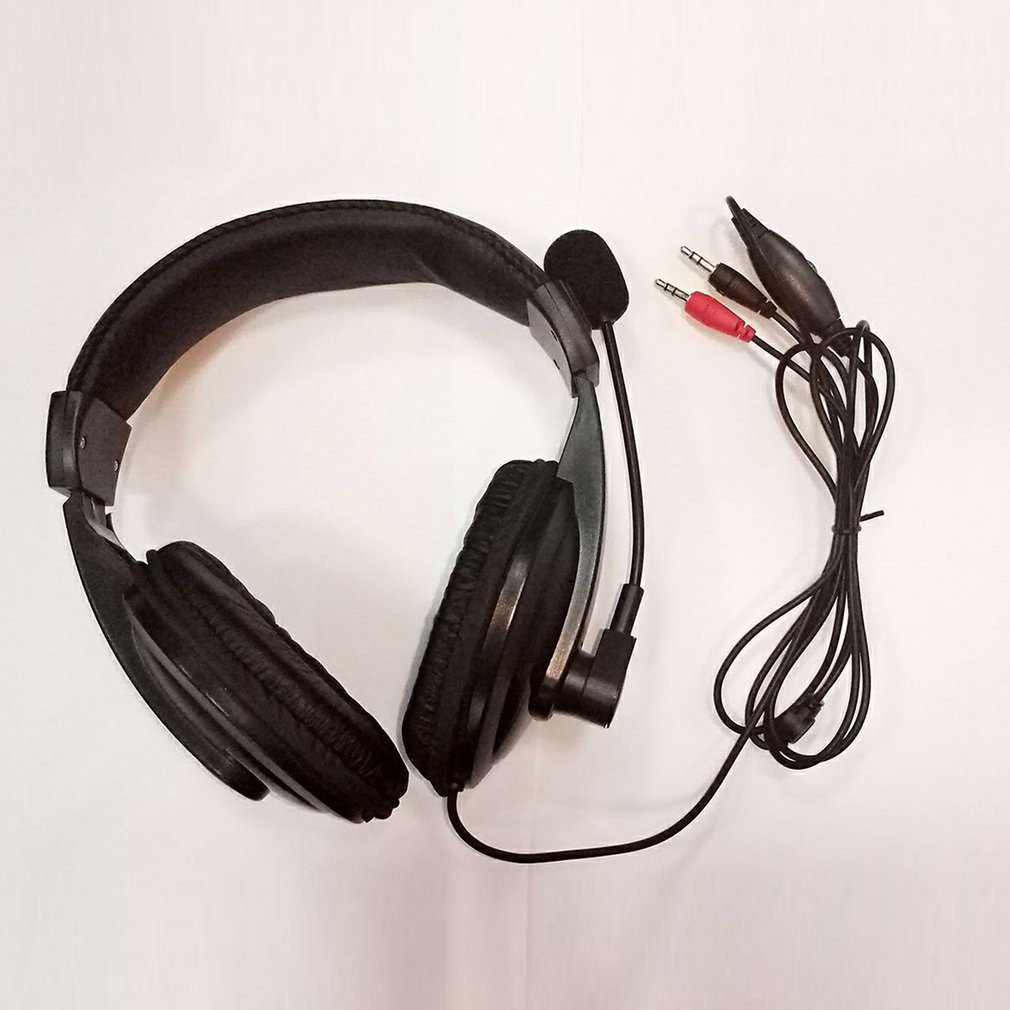Gaming Headset Game Music Headphone Earphone with Microphone Mic 3.5mm For PC Laptop Computer Black image