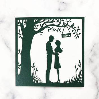 35pcs/lot Hollow Lace Cut Happiness Wedding Invitation Card Engagements Celebration Envelope Pearl Paper Design Invitation Card