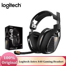 Promoção logitech astro a40 3.5mm tr gaming headset fones de ouvido com microfone profissional noice cancelamento para xbox/ps tablet portátil