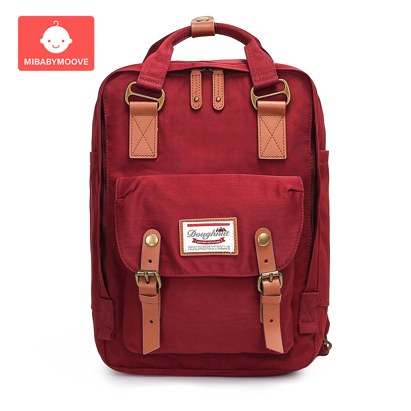Diaper Backpack Canvas Large Capacity Maternity Nappy Diaper Bag Multi-Function Travel Nursing Bag For Baby Care