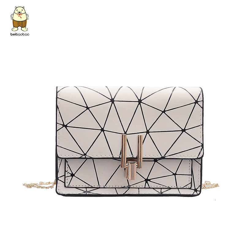 Beibaobao Shoulder Bag Summer New Female Lingge Small Square Geometric Bag Ladies Shoulder Diagonal Packet Messenger Bag