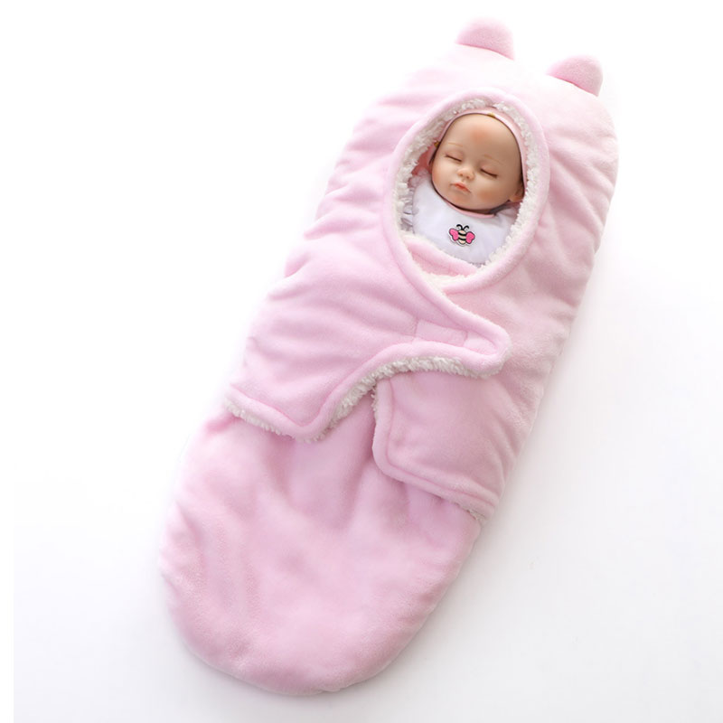 Baby Blanket Cute Cotton Receiving Sleeping Blanket Newborn Baby Boys Girls Warm Wrap Swaddle Sleepsacks Sleeping Bag Manta Bebe