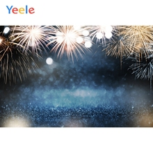Yeele Happy 2020 New Year Backdrop Fireworks Christmas Baby Birthday Custom Photography Background Vinyl For Photo Studio Props