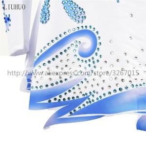 Image 4 - LIUHUO การแข่งขันสเก็ตผู้หญิงs ICE ชุดสเก็ต Roller สเก็ตแขนยาวผู้ใหญ่เด็ก StandcollarBlue