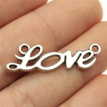 10szt 33x10mm miłość słowo Charms miłość złącze urok słowo miłość Charms do tworzenia biżuterii tanie i dobre opinie Ahri CN (pochodzenie) Ze stopu cynku Other moda Metal Archiwalne jewelry findings components charms for jewelry making fashion jewelry making charms