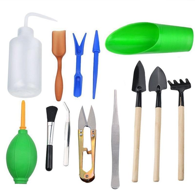 13pcs Mini Garden Hand Tools Transplanting Tools Succulent Tools Miniature Planting Gardening Tool Set