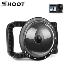 SHOOT 6 Dual Handheld Dome Port Waterproof Diving Housing Case Cover with Trigger for DJI Osmo Action Camera Lens Accessories