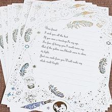 8 шт/лот бумажный набор букв винтажные канцелярские принадлежности