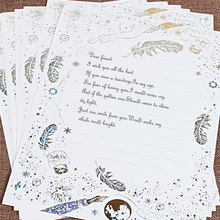 8pcs/lot  letter paper set Vintage stationary stationery writing gift Letters wedding mini envelopes for invitations European