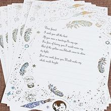 8 unids/lote juego de papel de carta Vintage papelería regalo de escritura letras mini sobres de boda para invitaciones europeas