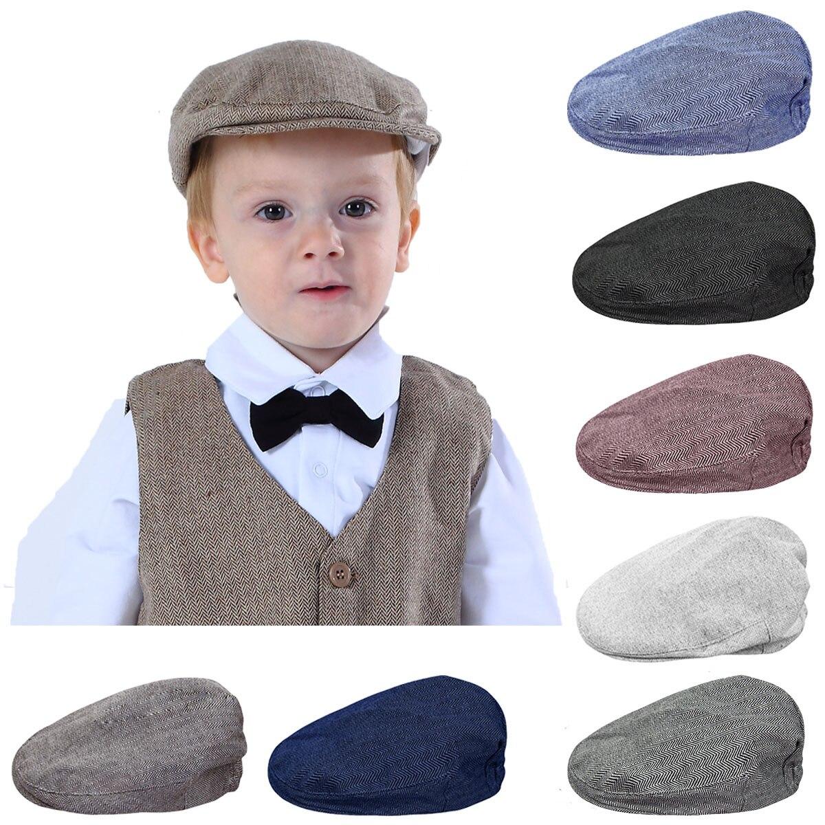 Retro Baby Kids Child Beret Cap Winter Boy/&Girl Infant Toddler Peaked Flat Hat