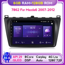 6G + 128G QLED 5G WIFI RDS Android 10 auto-Radio Audio reproductor Multimedia para Mazda 6 Rui 2008, 2009, 2010, 2011, 2012 navegación GPS BT