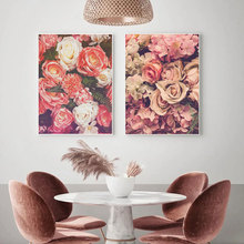 Nordic Poster Garden Flowers Rose Canvas Painting Photography Wall Art Pictures For Living Room Natural Modern Decorative Prints modern inspirational nordic flowers plants combination canvas painting zebra poster and prints living room decorative painting