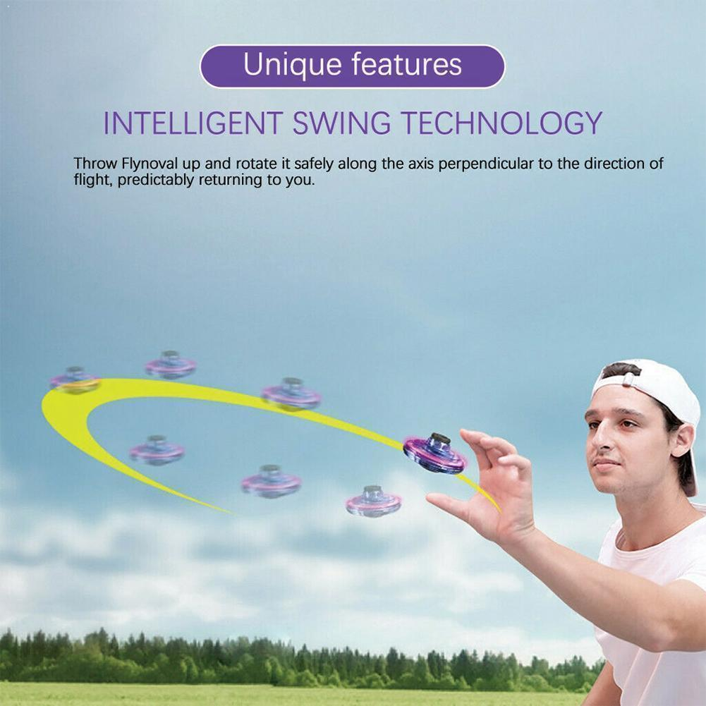 Mini Fingertip Flying Gyro UFO Hand Induction Gyro Toy Stress For Kids Flying Relief Spinner Gift Fingertip Gyro Adults UFO Y6R8